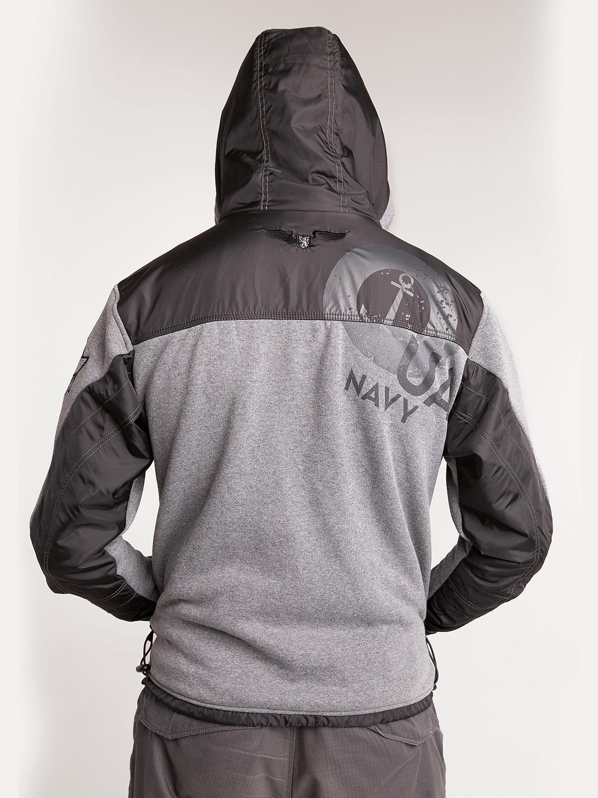 Чоловіче Худі 10 Маб. Колір сірий.  Технологія нанесення зображень: шовкодрук, вишивка, шеврони.