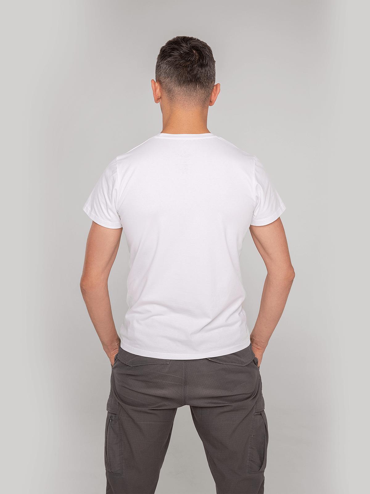 Men's T-Shirt Hedgehog. Color white.  Material: 95% cotton, 5% spandex.