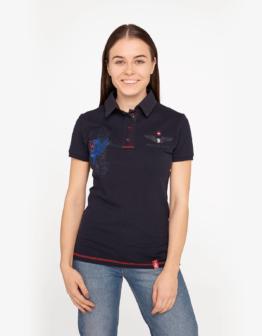 Women's Polo Shirt 112 Brigade (Kalyniv). Color dark blue. Тканина піке: 100% бавовна.