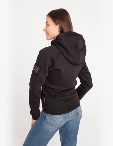 Women's Hoodie Roundel. Color black. Unisex hoodie (men's sizes).