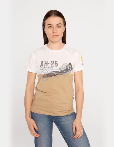 Жіноча Футболка Ан-26. Колір пісочний. Футболкаунісекс(розміри чоловічі).