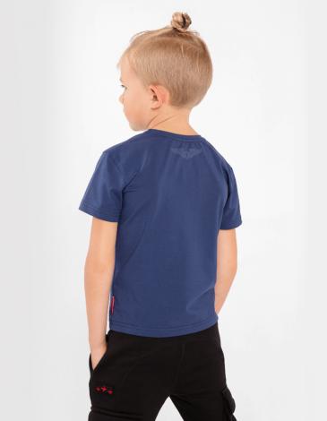 Дитяча Футболка Бджола. Колір синій. 95% бавовна, 5% спандекс  Відтінки кольорів на вашому екрані можуть відрізнятися від кольору оригіналу.