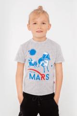 Дитяча Футболка Wjo Na Mars. 95% бавовна, 5% спандекс  Відтінки кольорів на вашому екрані можуть відрізнятися від кольору оригіналу.