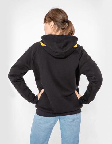 Women's Hoodie Petros. Color black. Unisex hoodie (men's sizes).