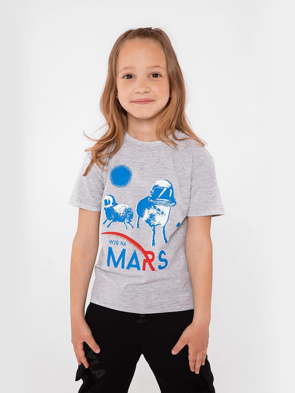Kids T-Shirt Wjo Na Mars. Color gray. .