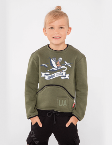 Kids Sweatshirt Dragon Won't Get It!. Color khaki. Sweatshirt: unisex, well suited for both boys and girls.