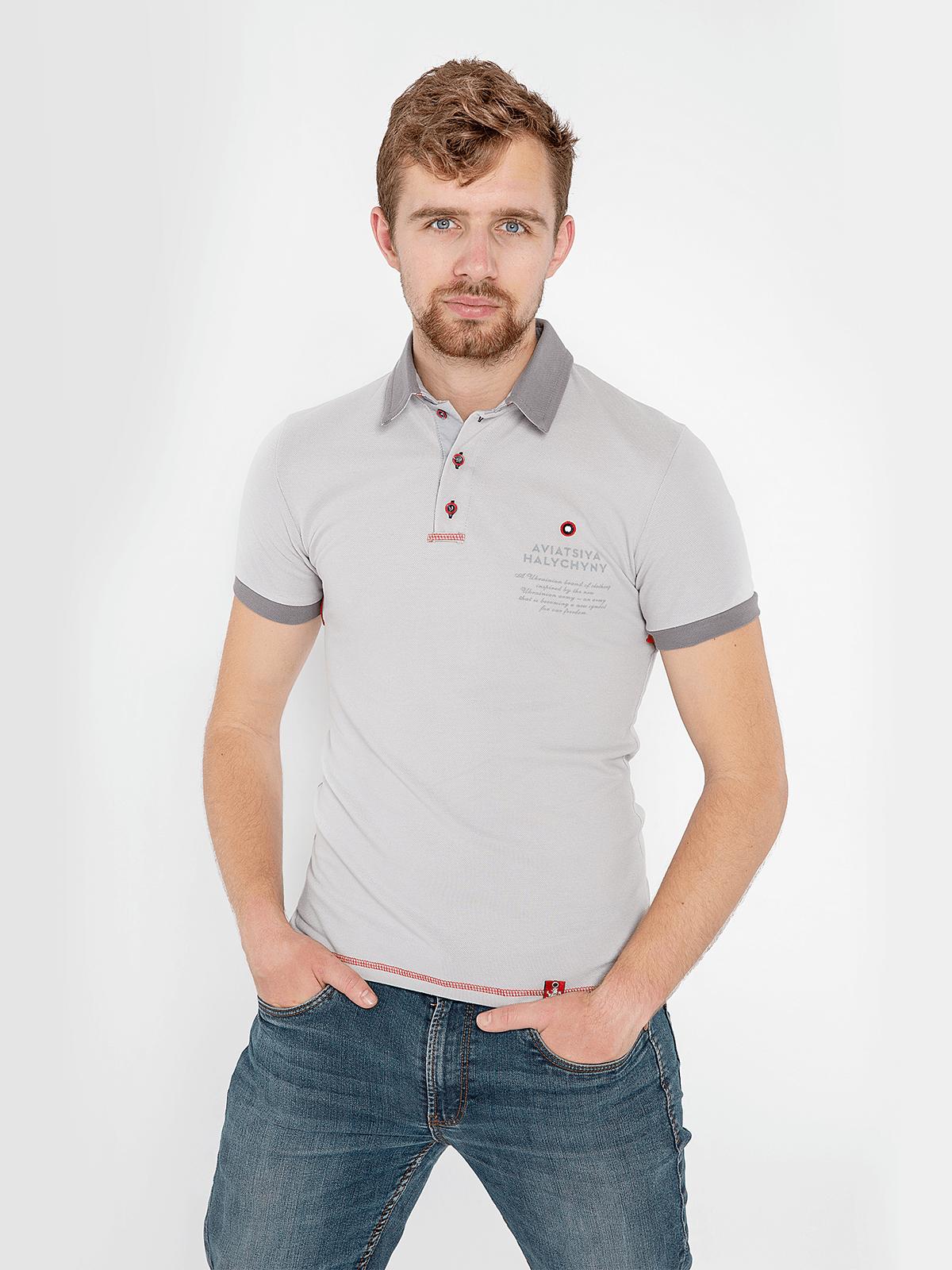 Men's Polo Shirt Wings. Color світло-сірий. Unisex polo (men's sizes).