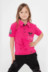 Kids Polo Shirt Lesia Ukrainka. Polo: unisex, well suited for both boys and girls.