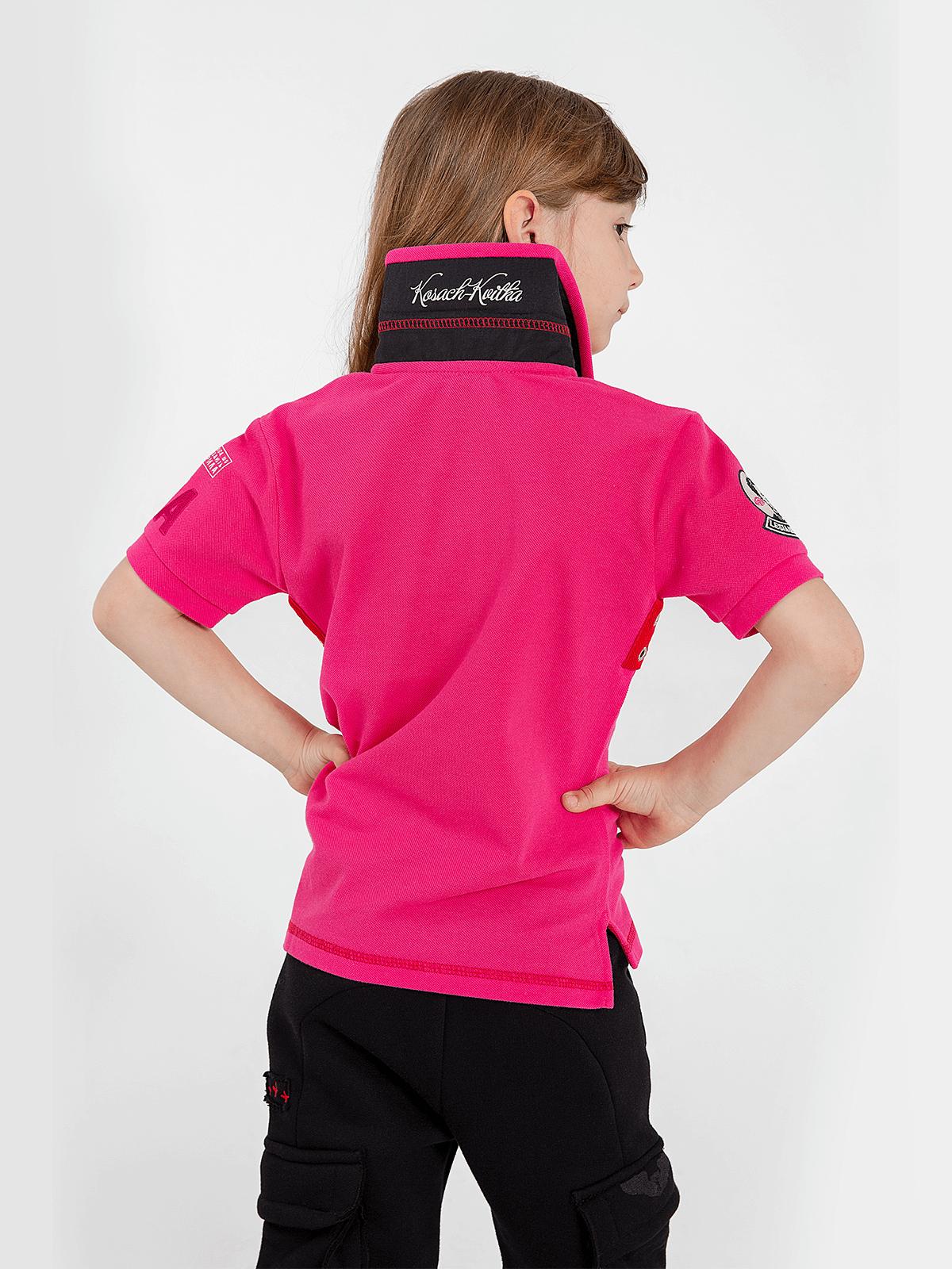 Kids Polo Shirt Lesia Ukrainka. Color pink.  Material: 100% cotton.