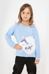 Kids Sweatshirt Flying Fishes. Sweatshirt: unisex, well suited for both boys and girls.