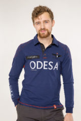 Men's Polo Long Air Race Odesa. Material: 75% cotton, 21% polyester, 4% spandex.