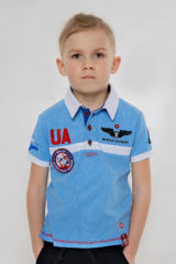 Kids Polo Shirt Molfar. Pique fabric: 100% cotton.