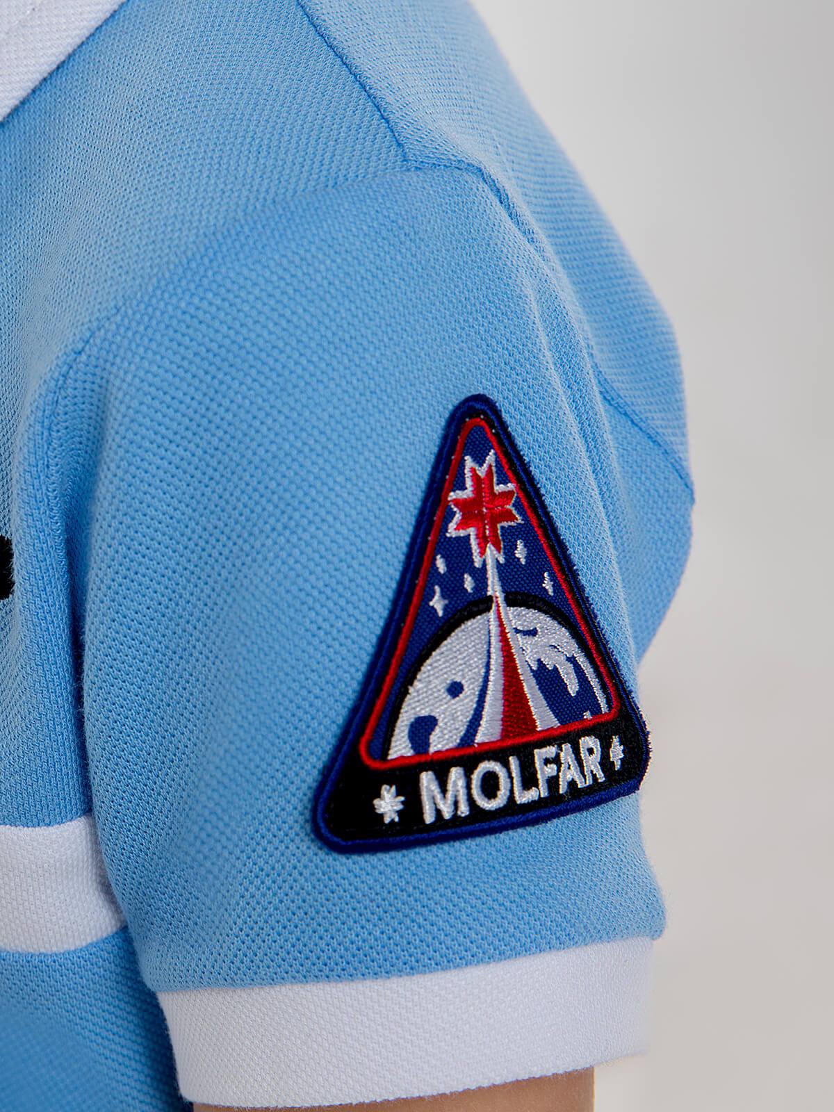 Дитяче Поло Molfar. Колір блакитний. 8.