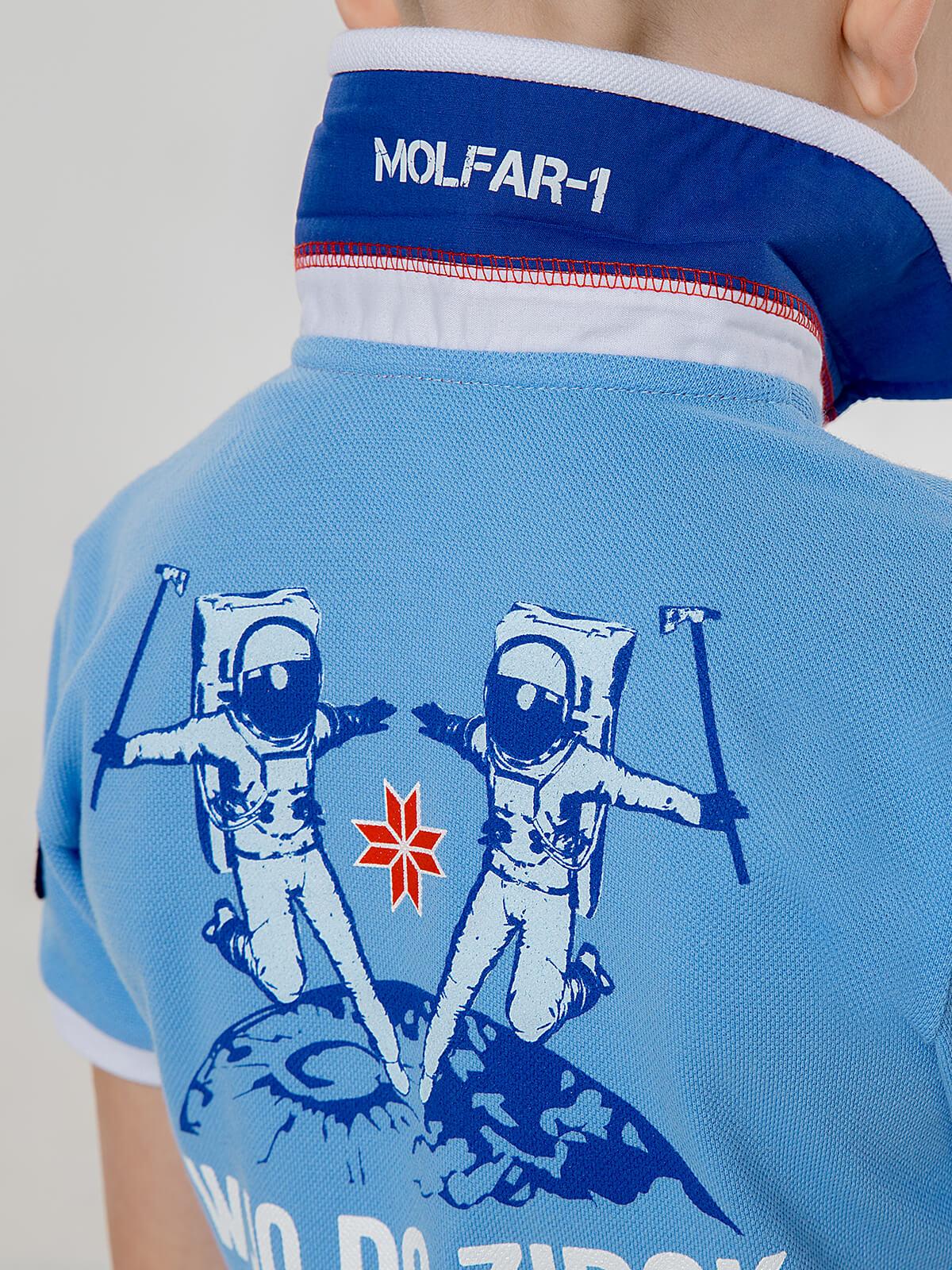 Дитяче Поло Molfar. Колір блакитний. 9.