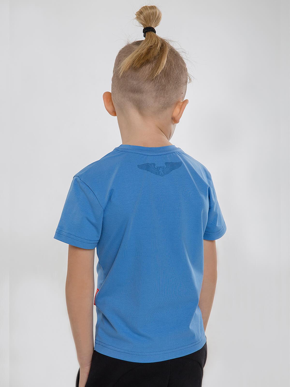 Дитяча Футболка То Моє Море. Колір блакитний.   Відтінки кольорів на вашому екрані можуть відрізнятися від кольору оригіналу.