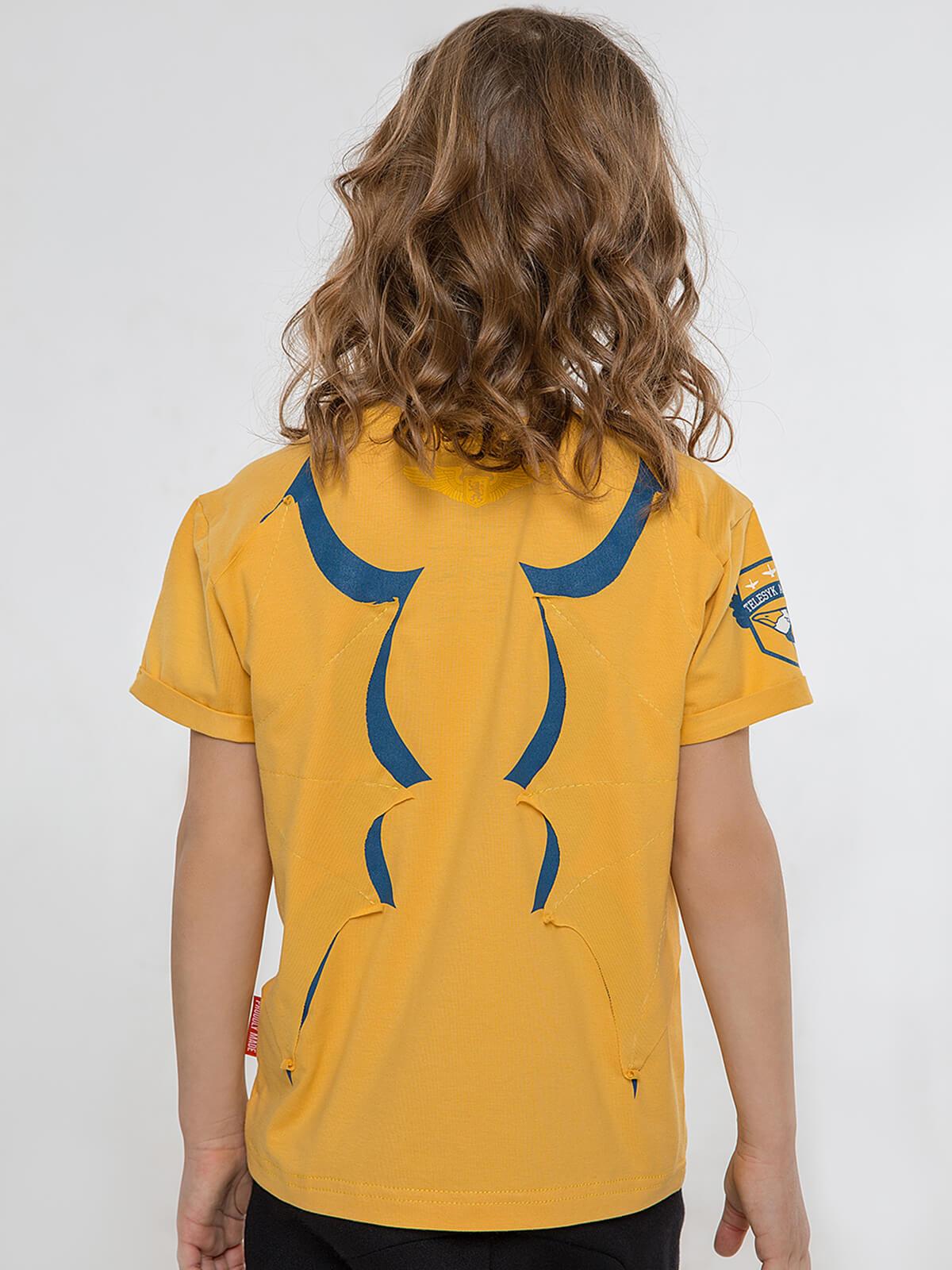 Kids T-Shirt Dragon. Color yellow.  Material: 95% cotton, 5% spandex.