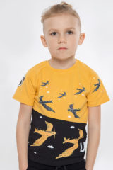 Kids T-Shirt Swallow. Material: 95% cotton, 5% spandex.