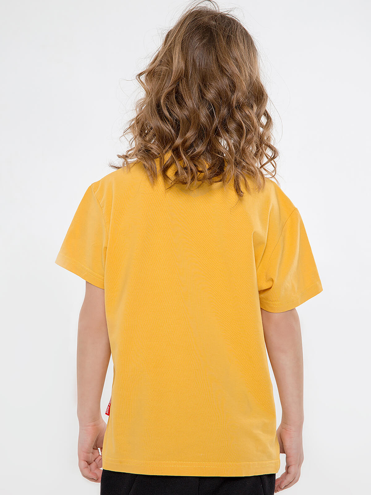Дитяча Футболка Мрія. Колір жовтий.  Матеріал: 95% бавовна, 5% спандекс.