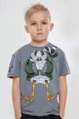 Kids T-Shirt Goose. Material: 95% cotton, 5% spandex.