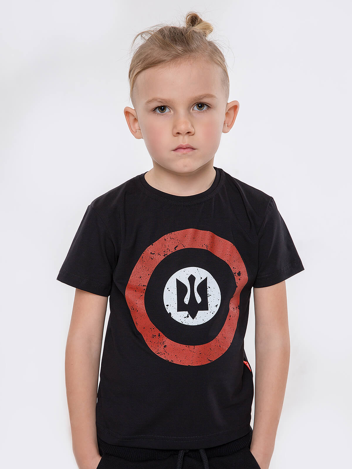Kids T-Shirt Roundel. Color black. T-shirt: unisex, well suited for both boys and girls.