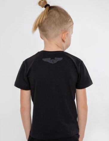 Дитяча Футболка Рондель. Колір чорний. Футболка: унісекс, добре пасує і хлопцям, і дівчатам.