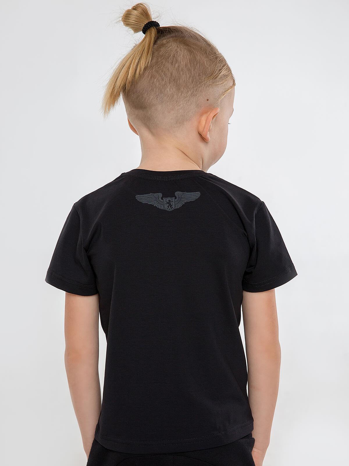Kids T-Shirt Roundel. Color black.  Material: 95% cotton, 5% spandex.