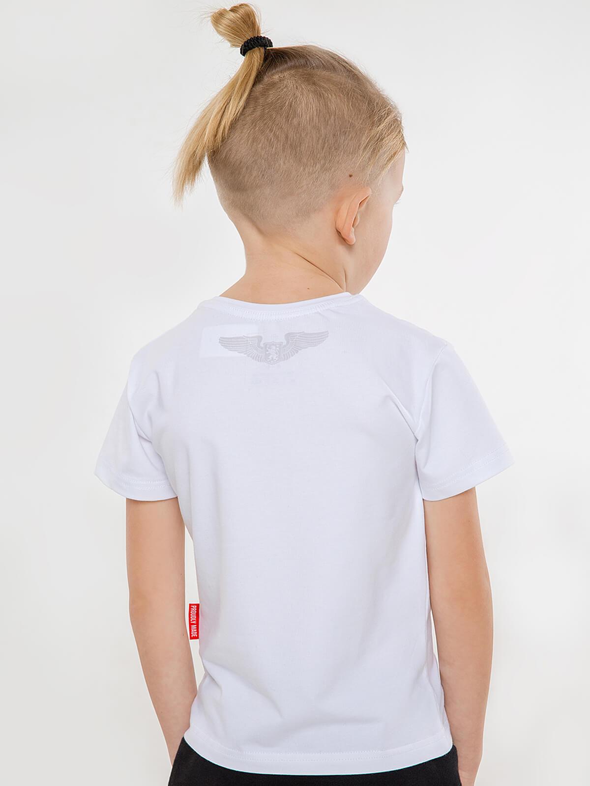 Kids T-Shirt Su-27. Color white. 4.