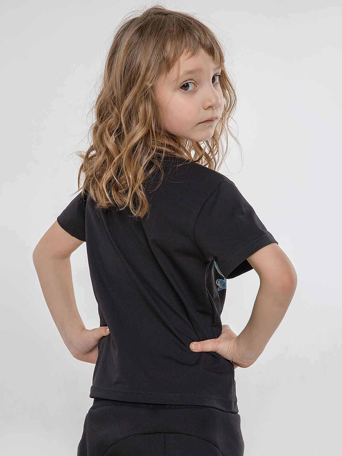 Kids T-Shirt Fight Like Ukrainian. Color black. .