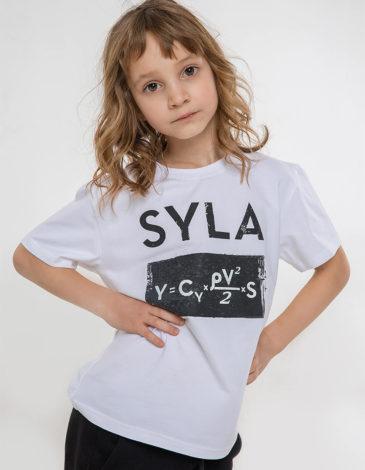 Дитяча Футболка Syla. Колір білий. Зручна та приємна до тіла дитяча футболка.
