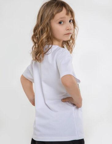 Дитяча Футболка Syla. Колір білий. Футболка унісекс.