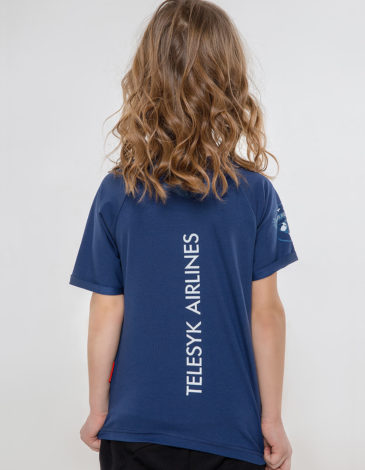 Kids T-Shirt Space. Color navy blue. T-shirt: unisex, well suited for both boys and girls.