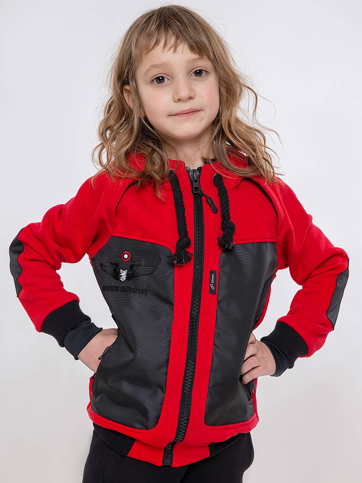 Kids Hoodie Syla. Color red. Unisex hoodie.