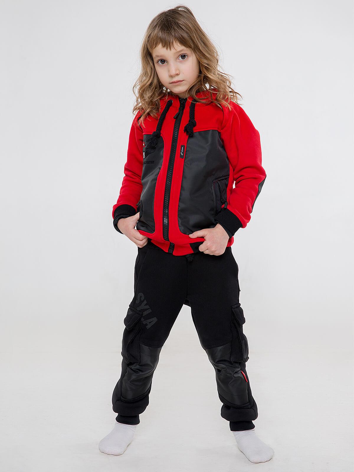 Kids Hoodie Syla. Color red. .