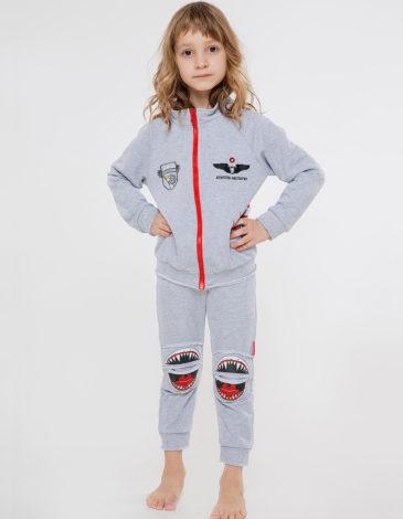 Дитячий Спортивний Костюм Акула. Колір сірий. Спортивний костюм: унісекс, добре пасує як на хлопцях, так і на дівчатах.