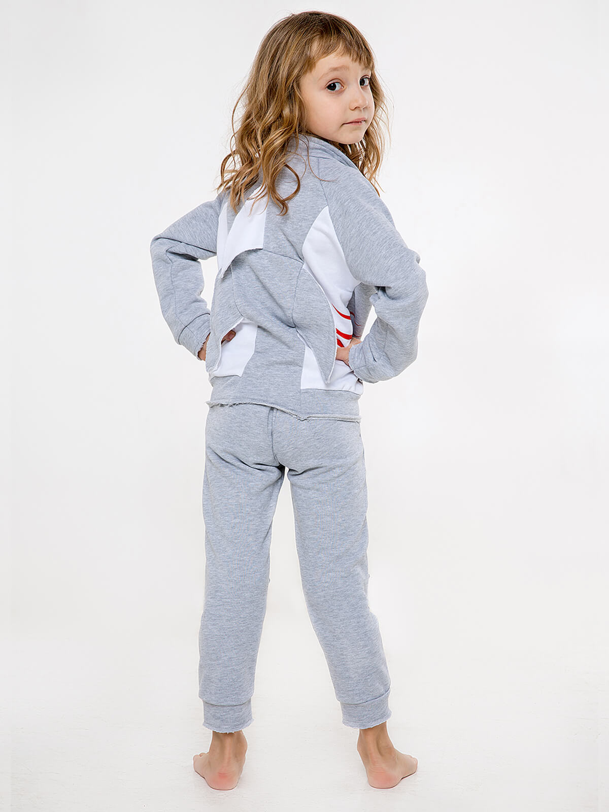 Kids Sport Suit Shark. Color gray. .