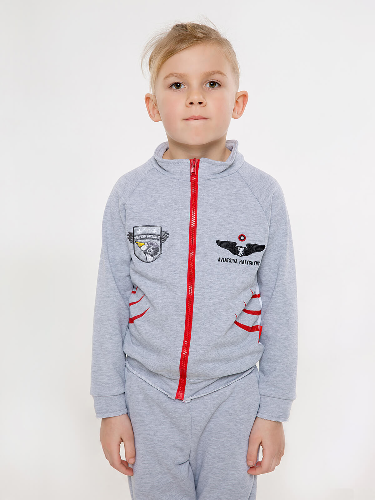 Kids Sport Suit Shark. Color gray. 3.