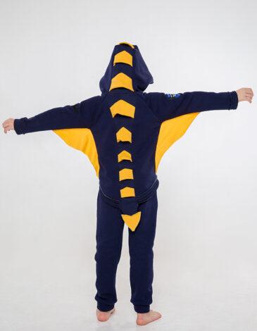 Дитячий Спортивний Костюм Дракон. Колір синій.  Матеріал худі – тринитка: 77% бавовна, 23% поліефір.