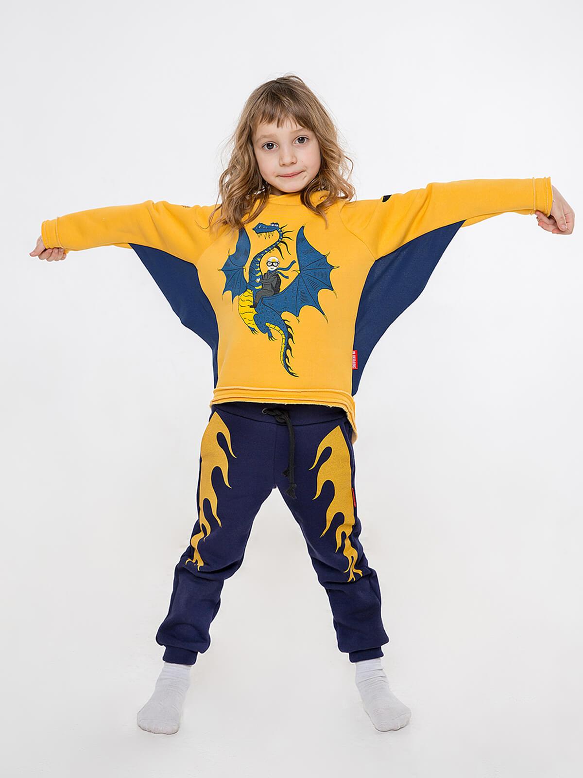 Kids Sport Suit Dragon. Color yellow. Комплект: унісекс, добре пасує як на хлопцях, так і на дівчатах.