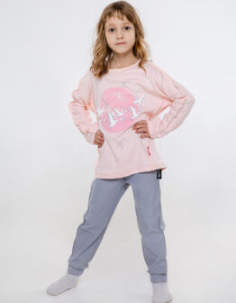 Kids Pajamas Geese. Color pale pink. Матеріал: 100% бавовна.