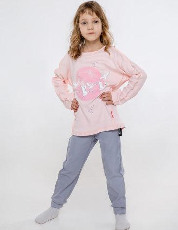 Kids Pajamas Geese. Color pale pink. Material: 100% cotton.