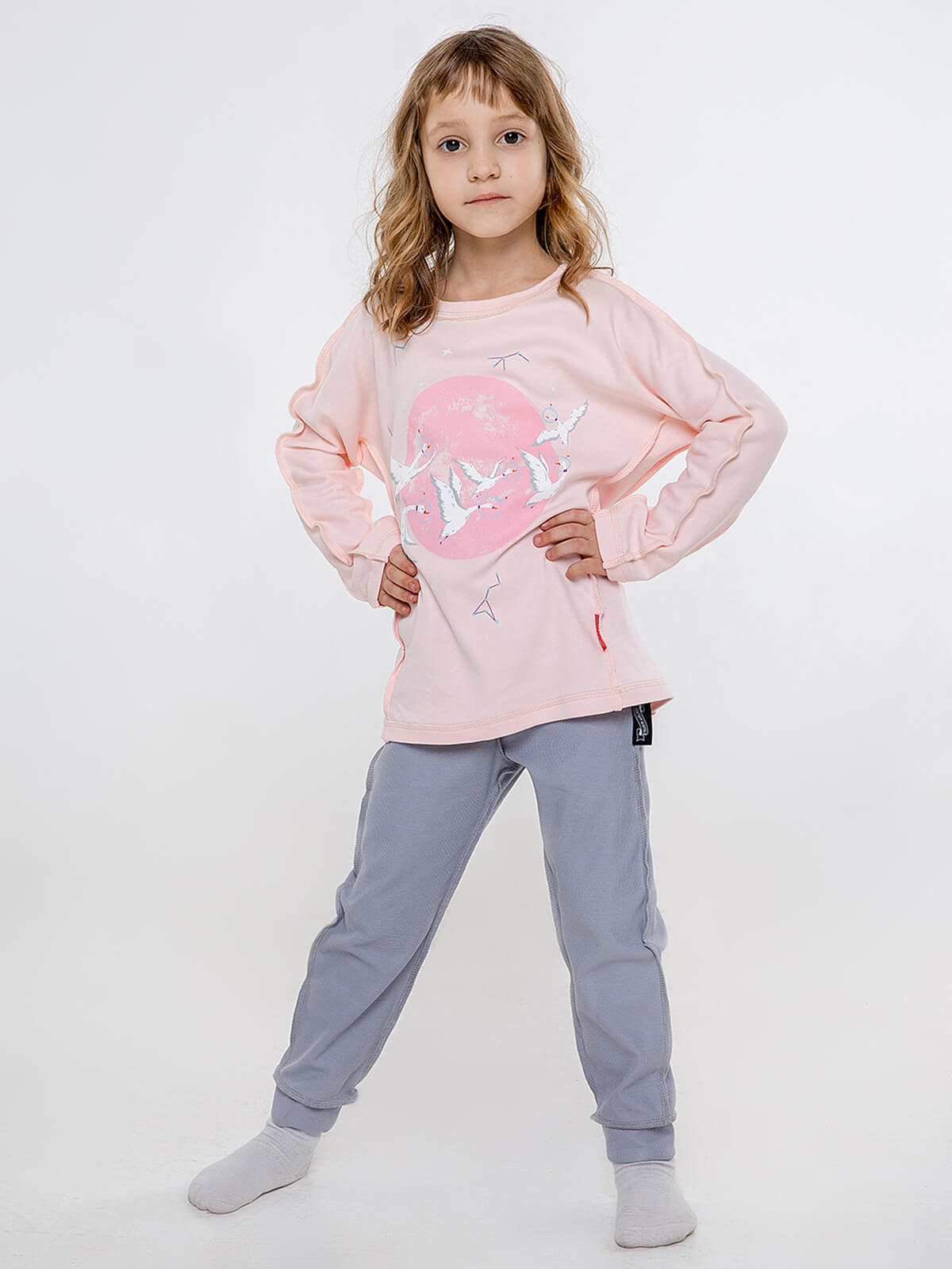 Kids Pajamas Geese. Color pale pink. Material: 100% cotton.
