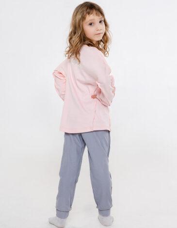Дитяча Піжама Гуси. Колір світло-рожевий. Матеріал: 100% бавовна.