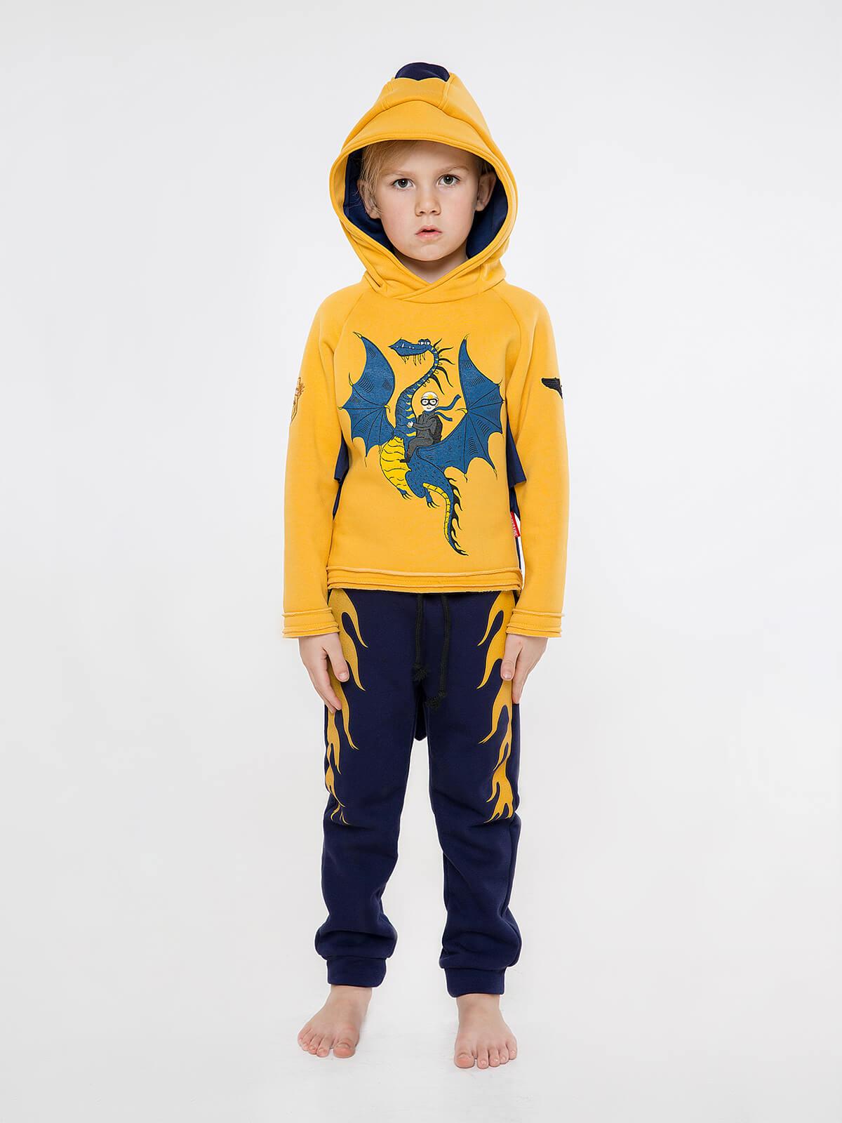 Kids Sport Suit Dragon. Color yellow. 5.
