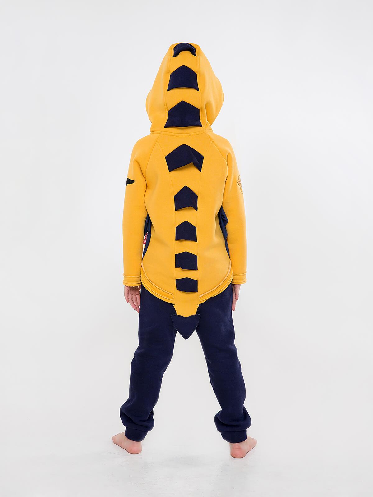 Дитячий Спортивний Костюм Дракон. Колір жовтий.  Матеріал худі – тринитка: 77% бавовна, 23% поліефір.