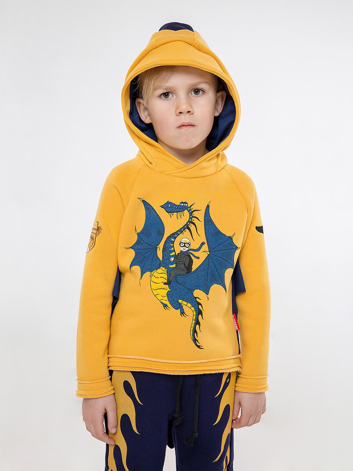 Kids Sport Suit Dragon. Color yellow. 6.