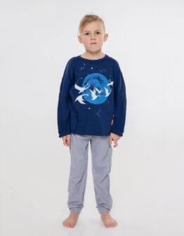 Kids Pajamas Geese. Color dark blue.  Технологія нанесення зображень: шовкодрук.