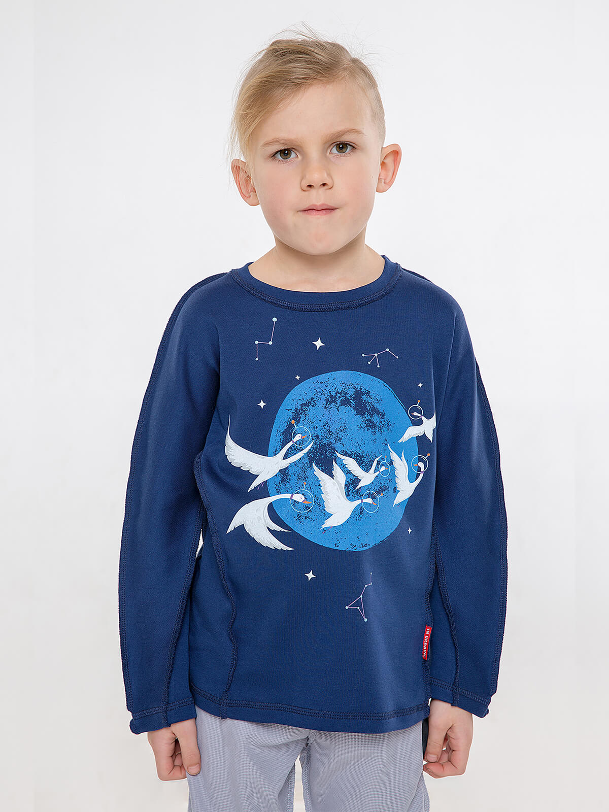 Kids Pajamas Geese. Color dark blue.  The color shades on your screen may differ from the original color.