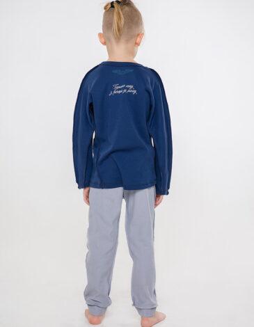 Дитяча Піжама Гуси. Колір темно-синій.  Технологія нанесення зображень: шовкодрук.