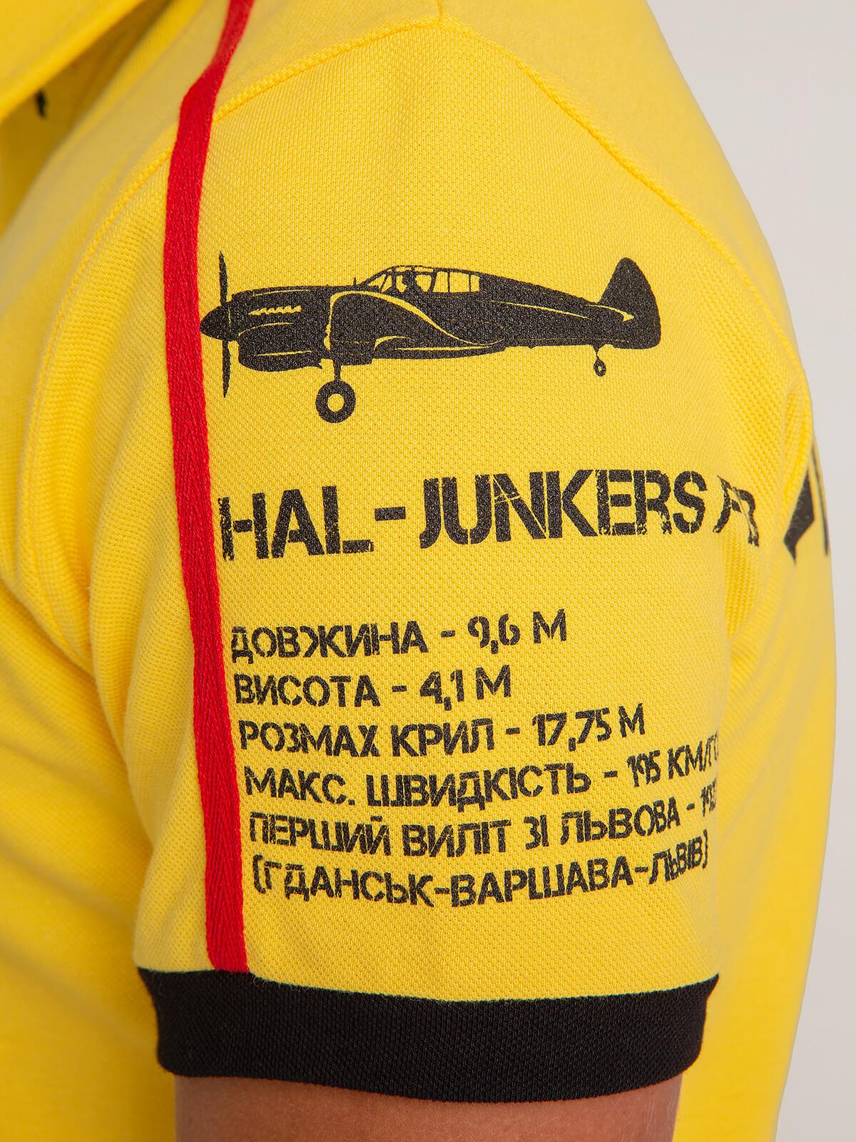 Kids Polo Shirt Follow Me. Color yellow. 6.