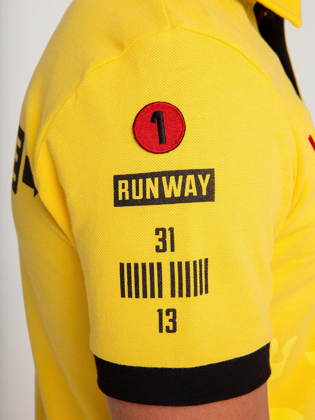 Kids Polo Shirt Follow Me. Color yellow. 5.